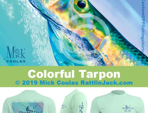 Custom UPF Fishing Shirts Colorful Tarpon Fish Gallery