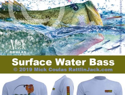 Custom UPF Fishing Shirts Surface Water Bass Fish Gallery